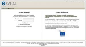 Pantalla Principal Campus Virtual ESVI-AL