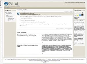 Campus Virtual ESVI-AL, curso logeado