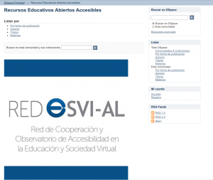 Página inicial de repositorio de documentos Red ESVI-AL DSpace