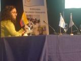 Andrea Cárdenas Jiménez presentando ponencia