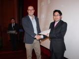 Segundo premio - Diego Chiluisa y prof. Salvador Otón