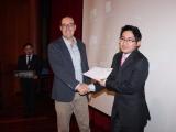 Segundo premio - Diego Chiluisa y prof. Salvador Otón (2)