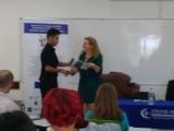 Entrega del primer premio para Angel Henríquez
