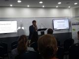 Presentación por el Dr. Luis Bengochea de los ganadores del premio ESVI-AL a los mejores trabajos sobre accesibilidad