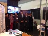 Representantes ESVI-AL en sala de exposiciones Virtual Educa