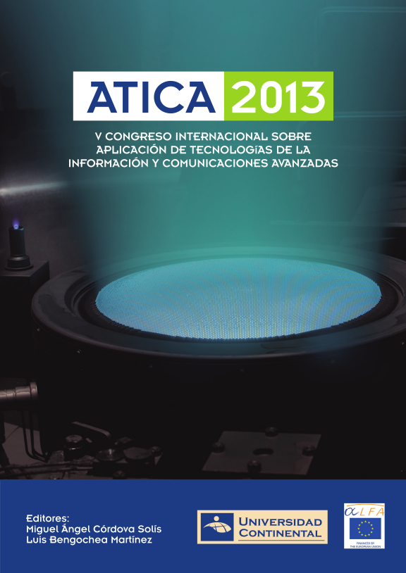 V Congreso Internacional sobre Aplicación de TICS Avanzadas (ATICA 2013)