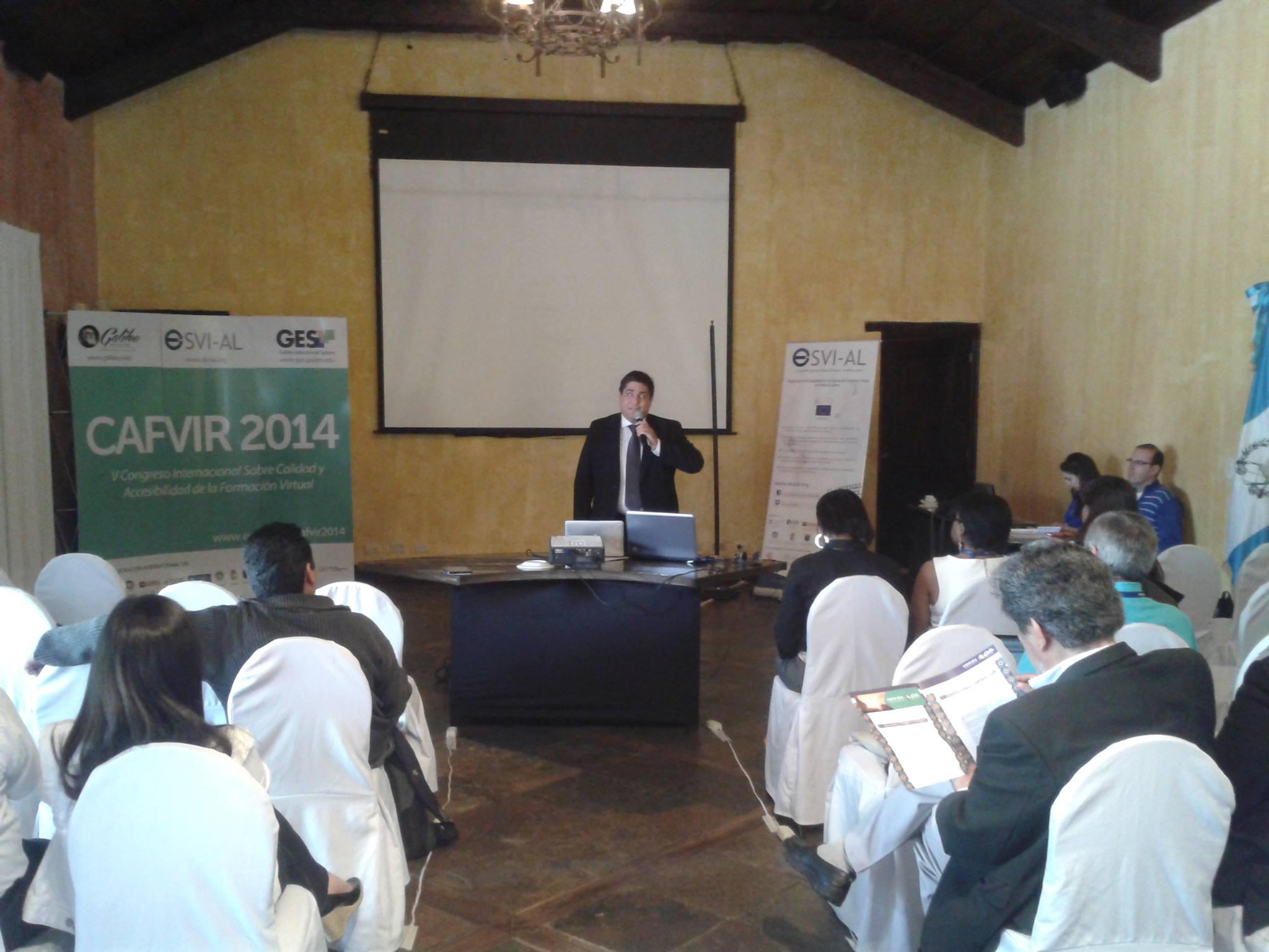 Presentación de experiencia de ULAC en cursos organizados por ESVI-AL por parte de José Viera