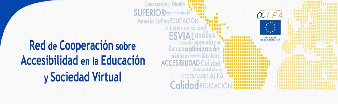 Imagen de Banner Red de Cooperación sobre Accesibilidad en la Educación y Sociedad Virtual ESVI-AL